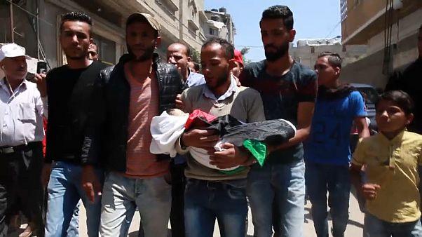 Palestinianos enterram vítimas dos confrontos