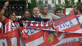 Pasión colchonera en Lyon en las horas previas a la final de la Liga Europa