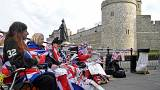 Royal fans line up outside Windsor Castle