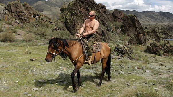 ¿Vladímir el vigoroso? Un recopilatorio de los intentos de retratar a Putin como un líder de acción