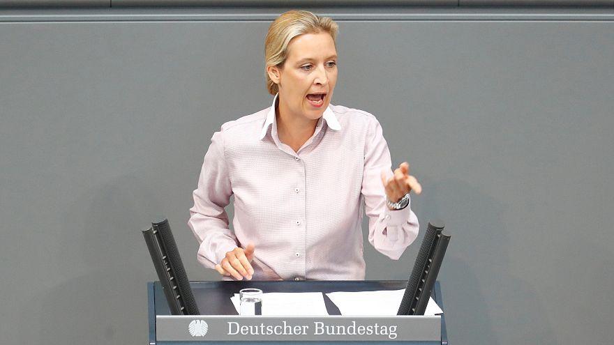 Alice Weidel (AfD) im Bundestag, 16. Mai 2018