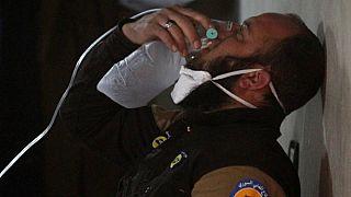 صورة من احدى الهجمات الكيماوية في سوريا