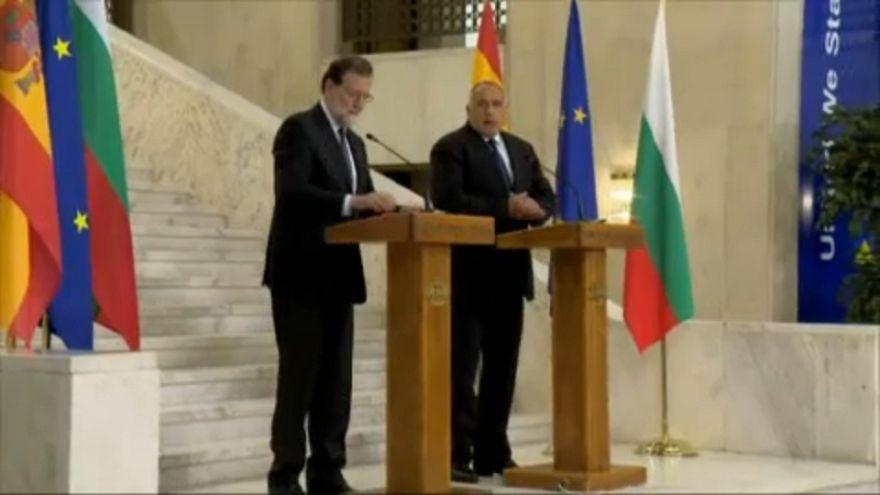 Mariano Rajoy e o primeiro-ministro búlgaro