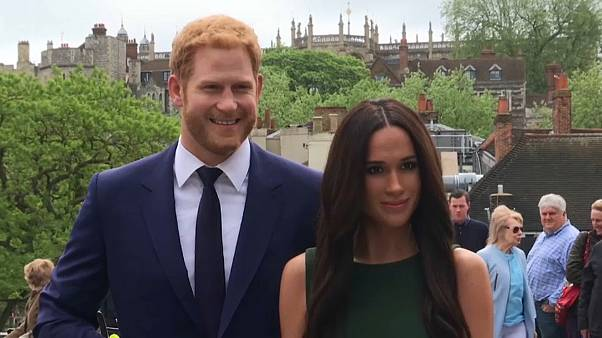 Harry and Meghan waxworks go on display in Windsor