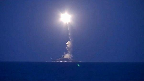 Пуск «Калибра» с корабля Каспийской флотилии