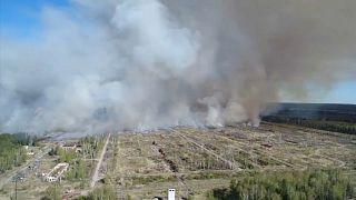 Пожар на бывшем военном полигоне в Удмуртии