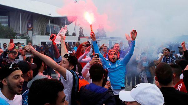 Болельщики приехали на финал Лиги Европы