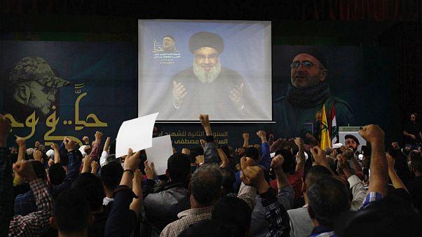 هواداران گروه حزب الله لبنان در بیروت