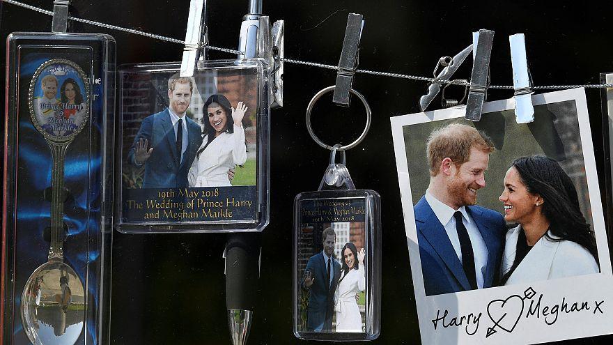 Souvenirs themed on the forthcoming royal wedding