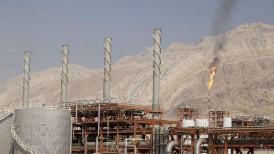 منظر عام لوحدة بحقل غاز بارس الجنوبي في إيران