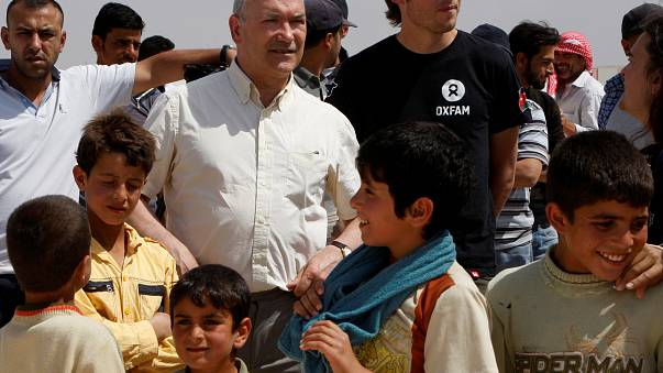 Oxfam chief Goldring on a trip to Jordan in 2013
