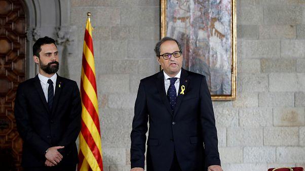 Quim Torra toma posesión de su cargo como presidente de la Generalitat