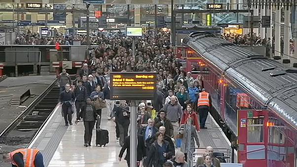 Trains form large part of the daily commute in British cities