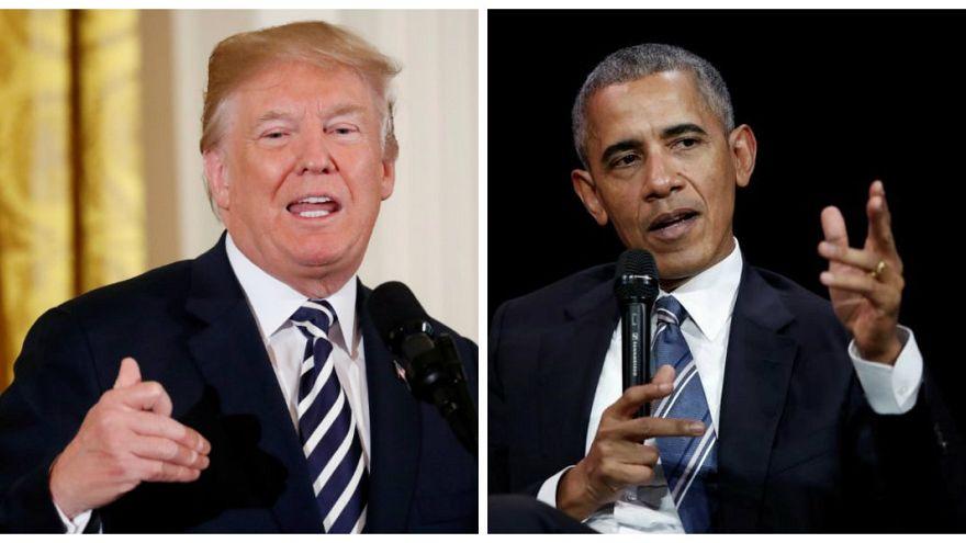 الرئيس السابق باراك أوباما والحالي دونالد ترامب