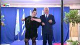 رقص نخست وزیر اسرائیل با برنده یوروویژن
