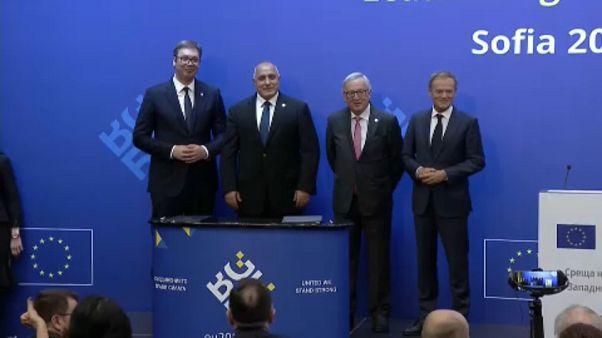 Líderes europeus e dos Balcãs