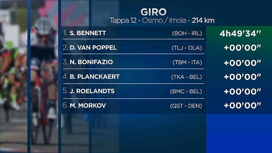 Giro d'Italia: sprint di Bennett, Yates sempre maglia rosa
