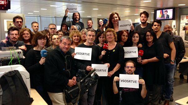 4. Schwarzer Freitag: Protest gegen Manipulation beim Staatssender RTVE
