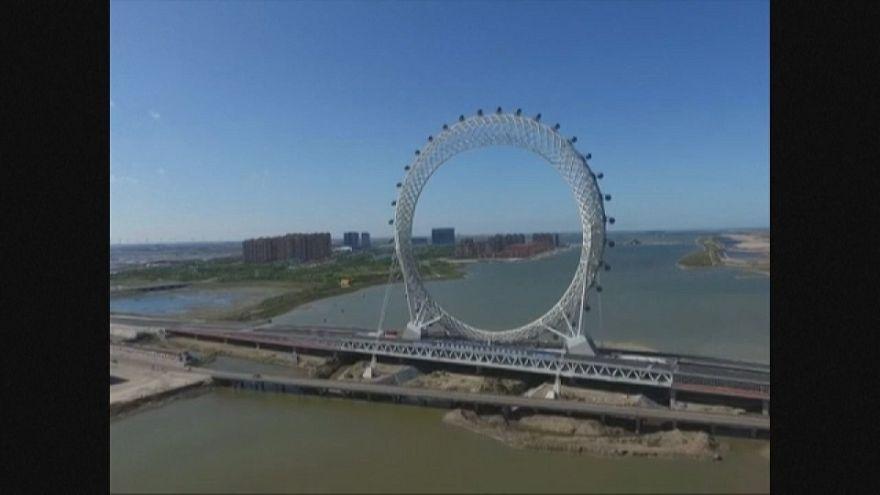 Une roue géante en Chine