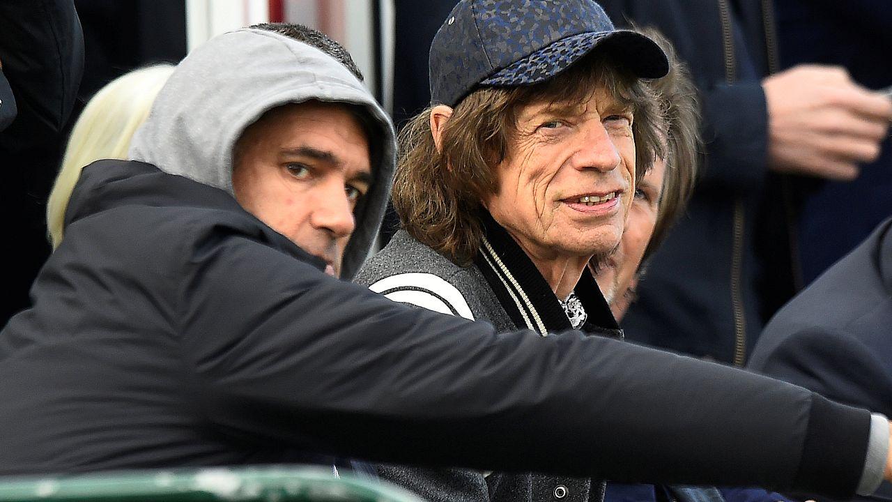 Mick Jagger az Írország-Pakisztán krikettmeccsen