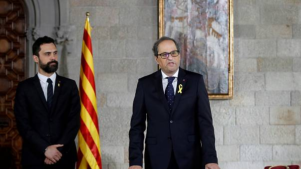 The new Catalan president takes his oath
