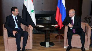 بشار اسد در بندر سوچی روسیه با ولادیمیر پوتین دیدار کرد