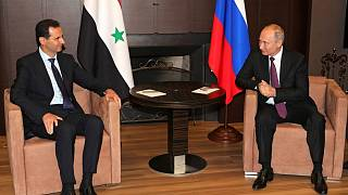 صورة للأسد وبوتين خلال لقاء يوم الخميس