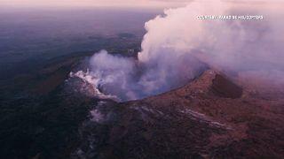 فعالیت آتشفشان کیلاویا در هاوایی آسمان را خاکستری کرد