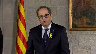 Independentista Quim Torra ´toma posse na Catalunha