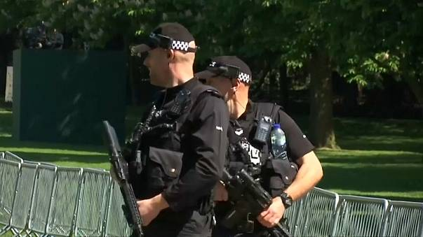 British police are armed for high security events like royal weddings