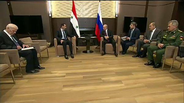 Szíriáról beszélgetett Putyin és Aszad Szocsiban