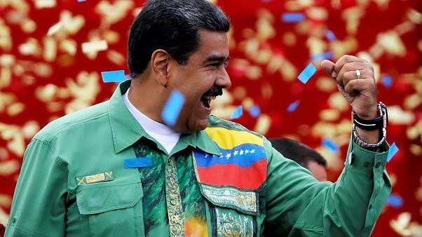 الرئيس الفنزويلي نيكولاس مادورو خلال حملته الانتخابية لولاية جديدة