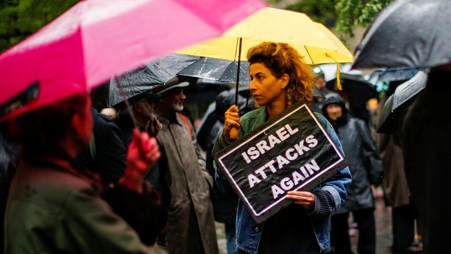 Акция поддержки палестинцев на Манхэттен, Нью-Йорк, 16 мая