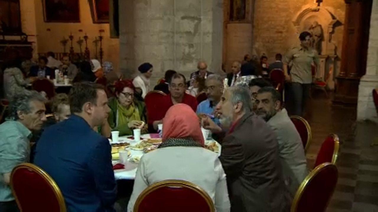 إفطار جماعي في كنيسة ببروكسل..حضره يهود ومسيحيون