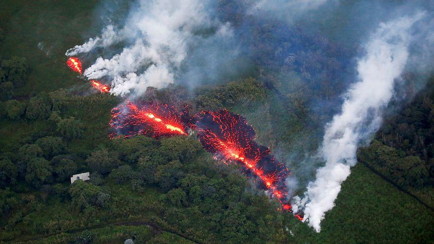 Havai'de 2 haftadır aktif halde olan Kilauea Yanardağı bölge halkını endişelendiriyor
