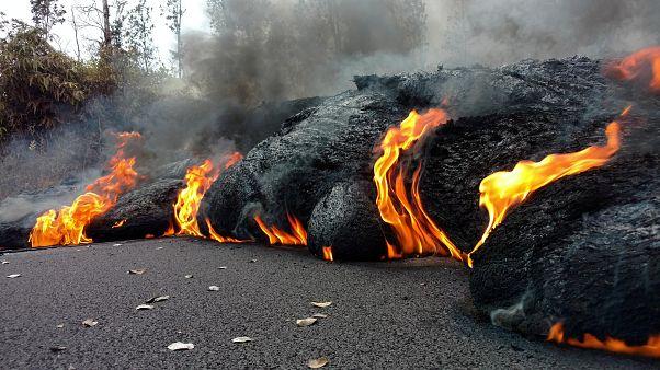Tombol a hawaii Kilauea vulkán
