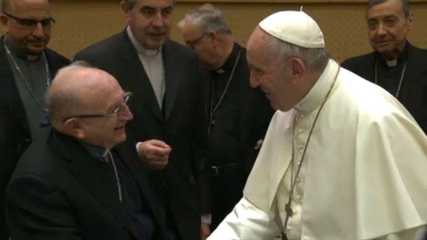 Papa Francisco e bispos chilenos