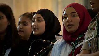 Marking the start of Ramadan - in a Brussels church