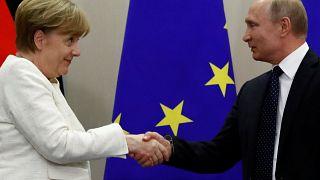 """Путин и Меркель на одном """"потоке"""""""
