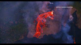 Новые извержение вулкана на Гавайях