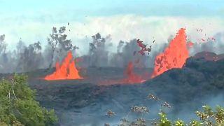 Le lingue di fuoco del Kilauea alle Hawaii