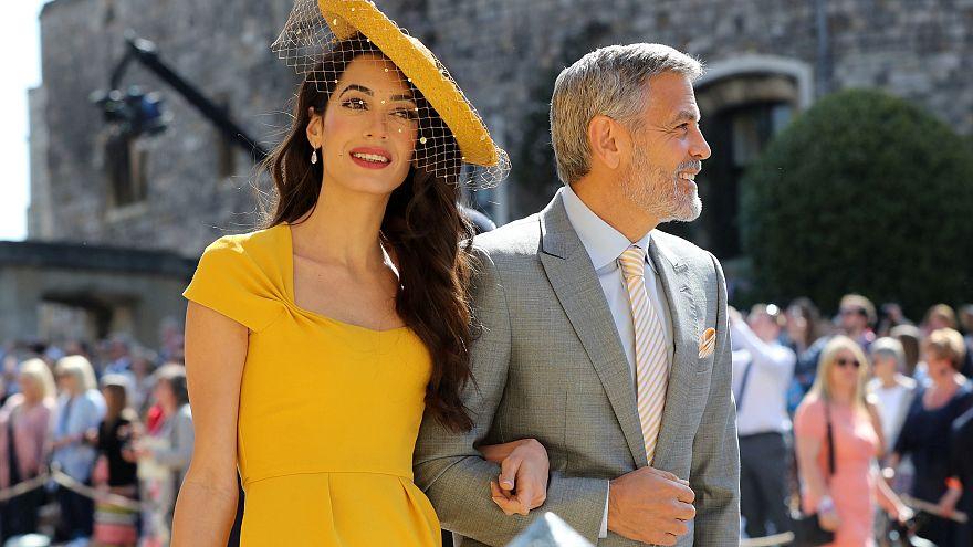 Amal und George Clooney bei der Hochzeit von Harry und Meghan