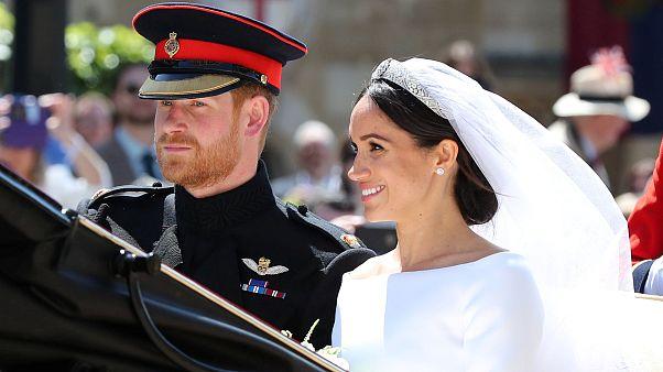 شاهد: لحظات وصول الأمير هاري وميغان ماركل إلى حفل الزفاف الملكي