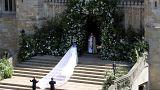 تصاویری از آغاز مراسم ازدواج سلطنتی در کلیسای سنت جورج