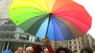 Гей-парад в Брюсселе: за равенство и права