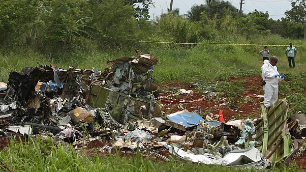 The wreckage of a Boeing 737 plane that crashed near Havana, Cuba.