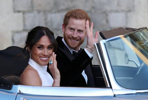The newly married Duke and Duchess of Sussex, Windsor, May 19, 2018