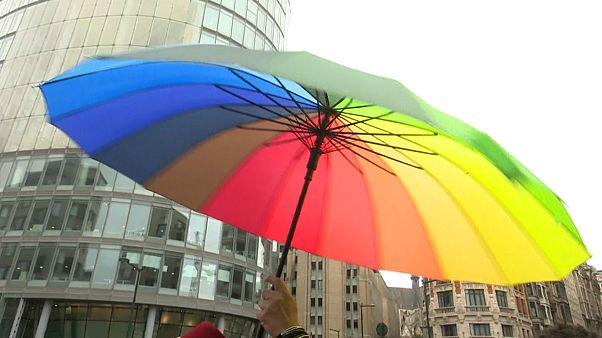 الآلاف يشاركون في المسيرة السنوية للمثليين والمتحولين جنسيا ببروكسل