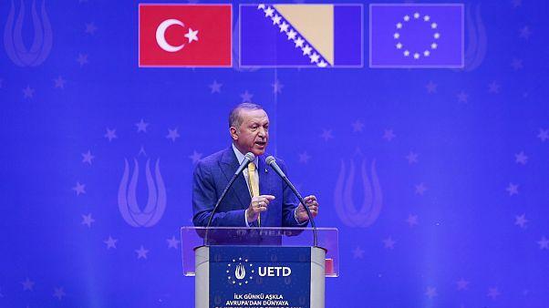 Cumhurbaşkanı Erdoğan Bosna'da Avrupalı Türklere seslendi