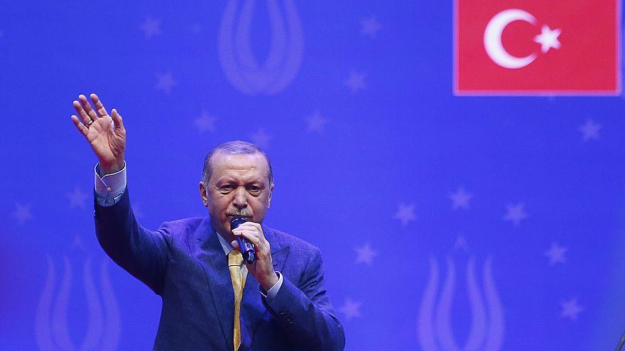 Erdogan bei seinem Wahlkampfauftritt in Sarajevo